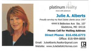 Julie A. Alberts, Platinum Realty